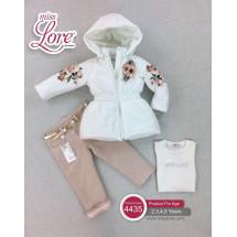 Комплект для девочек Венера (куртка, джинсы и джемпер)