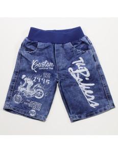 Шорты джинсовые для мальчиков мотоциклист