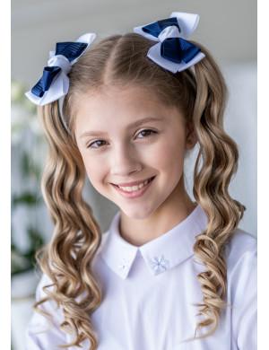 Бант для волос на мягкой резинке Арета (2шт)